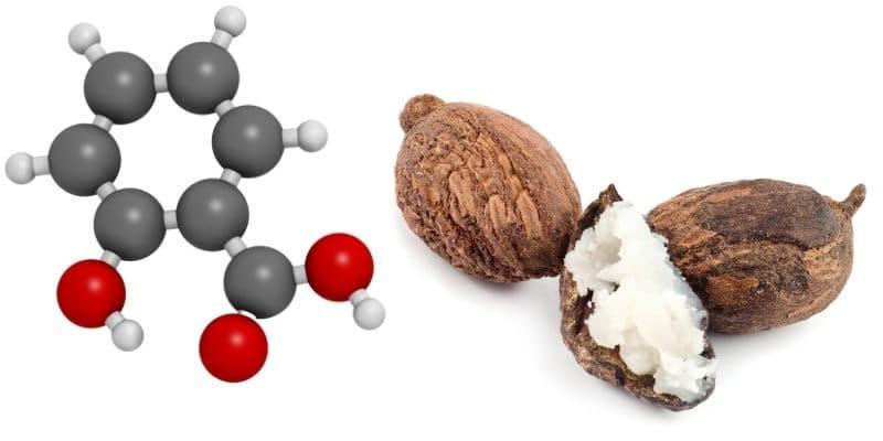 acido salicilico e burro di karitè