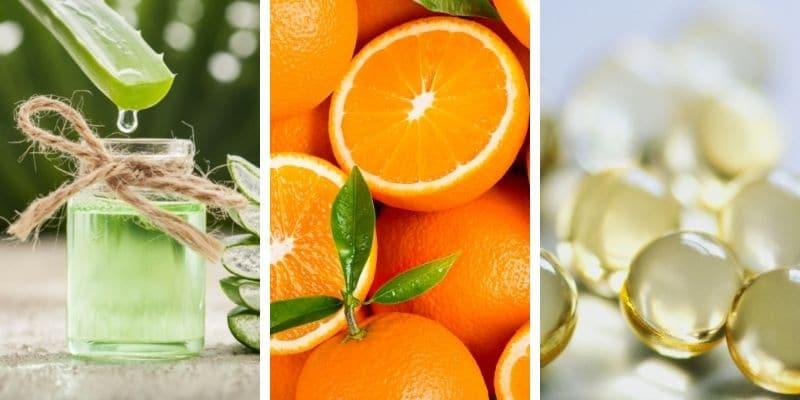 aloe vera, arancia, vitamina e