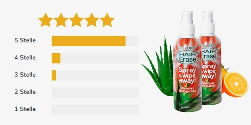 hair erase spray recensioni