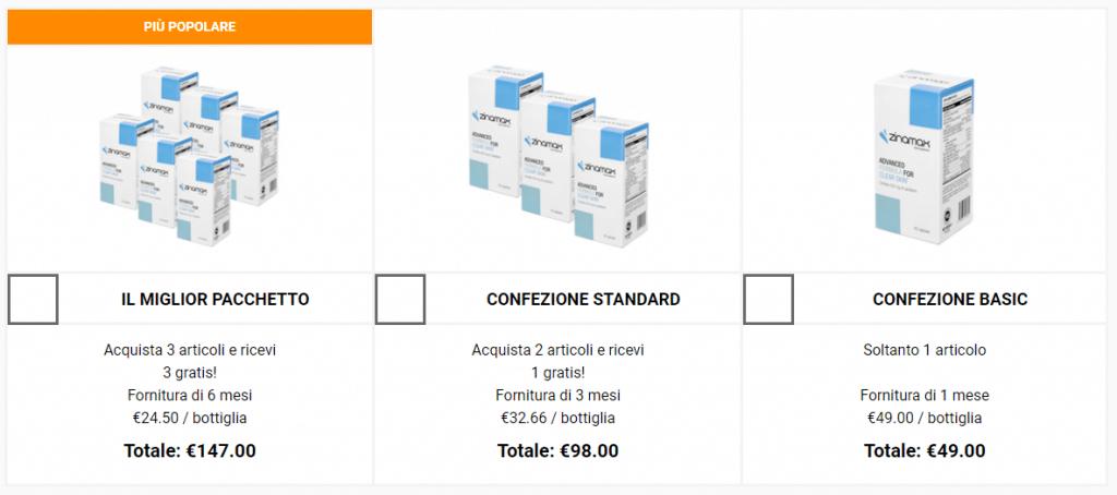 zinamax prezzo