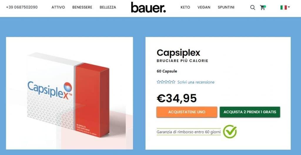 capsiplex prezzo e sito ufficiale