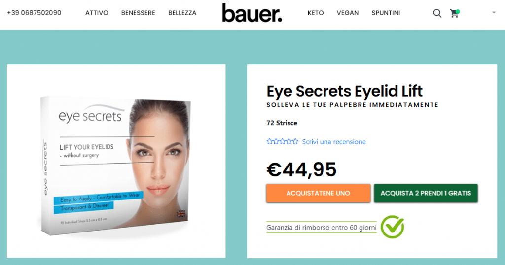 eye secrets eyelid lift dove acquistare