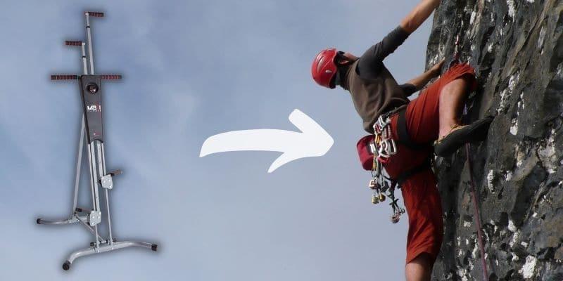il vertical climber simula il movimento dell'arrampicata